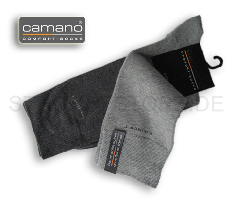 2paar camano socken ca soft ohne gummidruck 39 42 grau melange art 3642 ebay. Black Bedroom Furniture Sets. Home Design Ideas